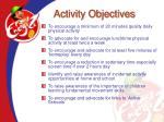 activity objectives