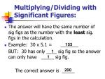 multiplying dividing with significant figures