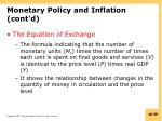 monetary policy and inflation cont d1