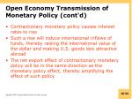 open economy transmission of monetary policy cont d1