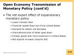 open economy transmission of monetary policy cont d2