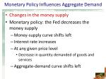 monetary policy influences aggregate demand10