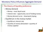 monetary policy influences aggregate demand4