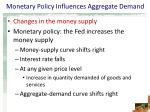 monetary policy influences aggregate demand9