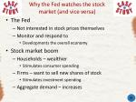 why the fed watches the stock market and vice versa