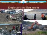 employees and equipment