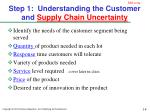 step 1 understanding the customer and supply chain uncertainty
