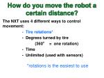 how do you move the robot a certain distance