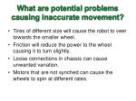 what are potential problems causing inaccurate movement