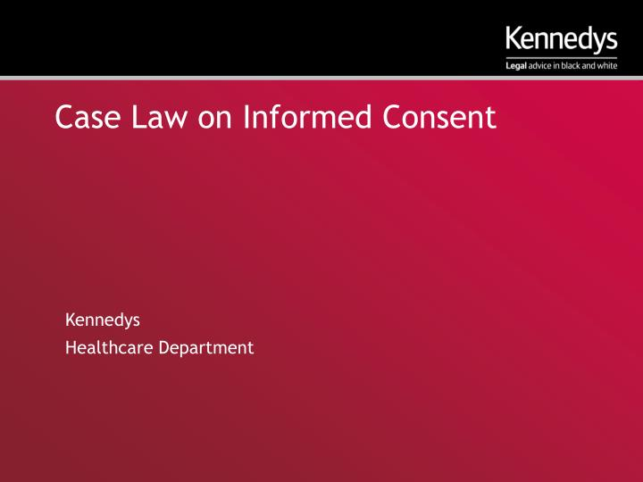 case law on informed consent n.