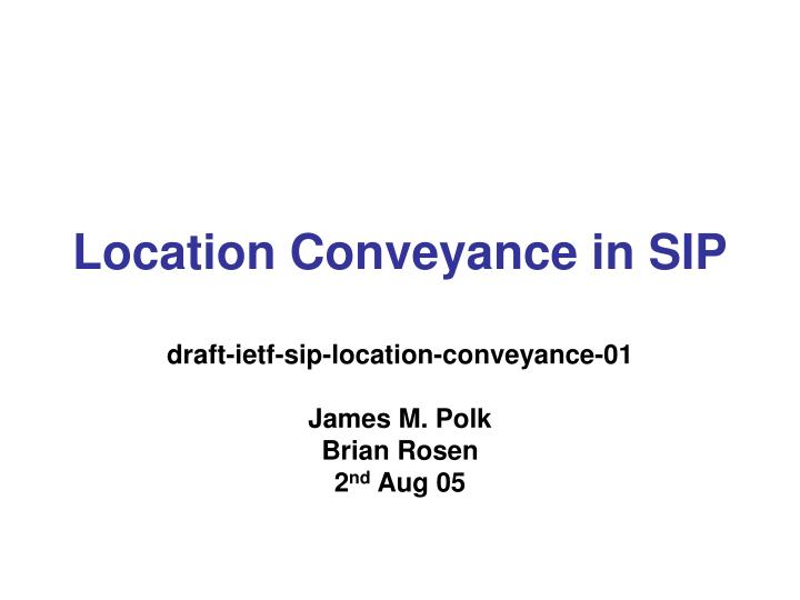 location conveyance in sip n.