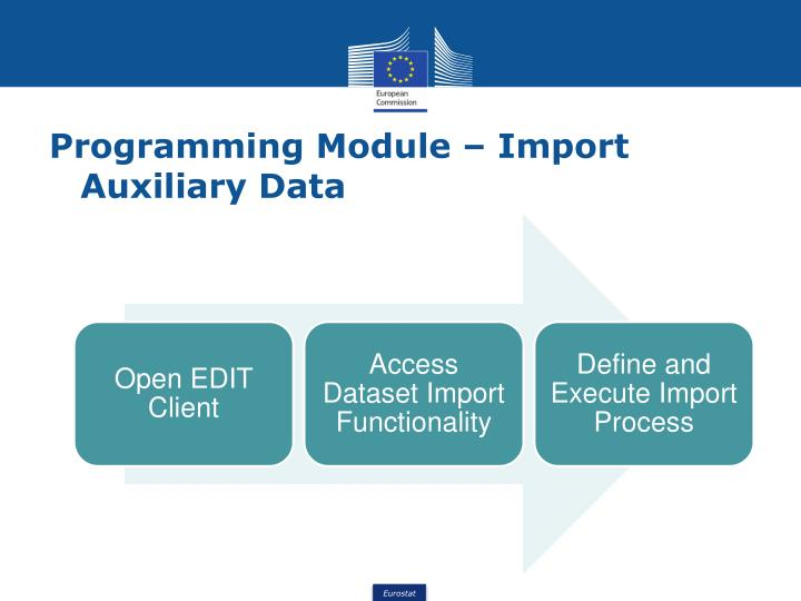 Programming Module – Import Auxiliary Data