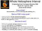 whole heliosphere interval