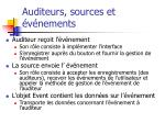 auditeurs sources et v nements