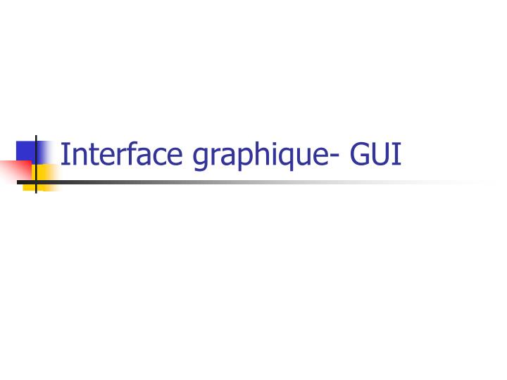 interface graphique gui n.