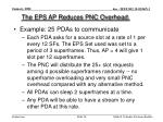 the eps ap reduces pnc overhead