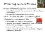 preserving beef and venison