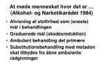 at m de mennesket hvor det er alkohol og narkotikar det 1984
