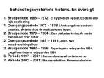behandlingssystemets historie en oversigt