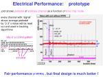 electrical performance prototype