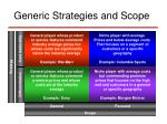generic strategies and scope