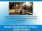 muscle rehabilitation at quro health studios