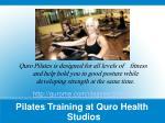 pilates training at quro health studios