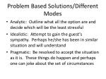 problem based solutions different modes