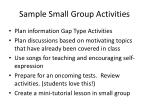 sample small group activities