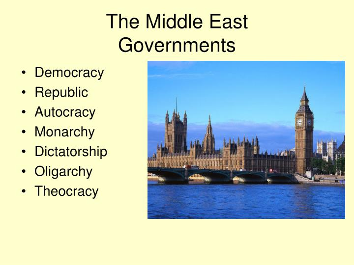 the middle east governments n.