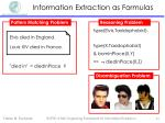 information extraction as formulas1
