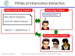 pitfalls of information extraction5