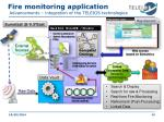 fire monitoring application advancements integration of the teleios technologies