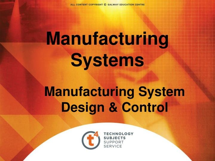 manufacturing systems n.