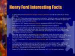 henry ford interesting facts