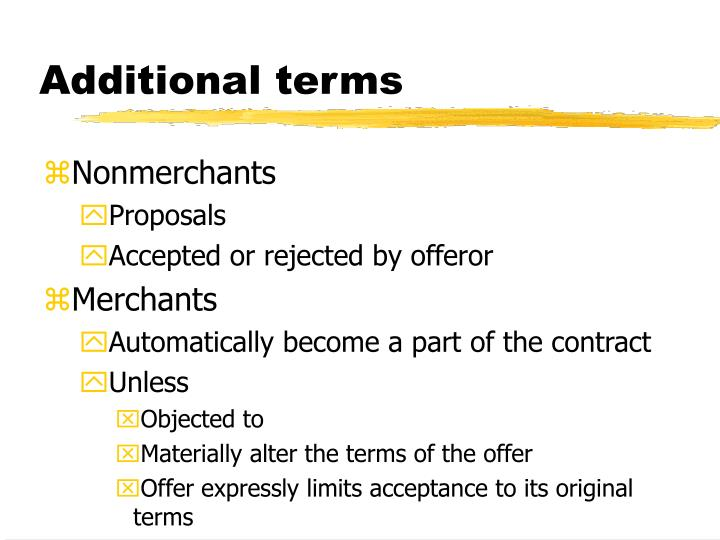 additional terms n.