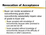 revocation of acceptance