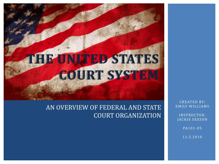 the united states court system n.