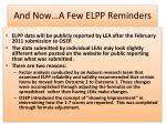 and now a few elpp reminders