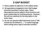 e gap budget
