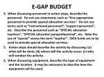 e gap budget1