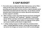 e gap budget2