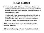 e gap budget3