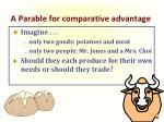 a parable for comparative advantage