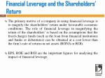 financial leverage and the shareholders return