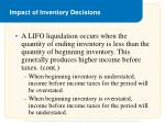 impact of inventory decisions4