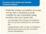 inventory cost under the periodic inventory system2