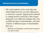 valuing inventory by estimation1