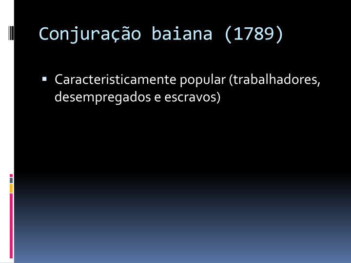 Conjuração baiana (1789)