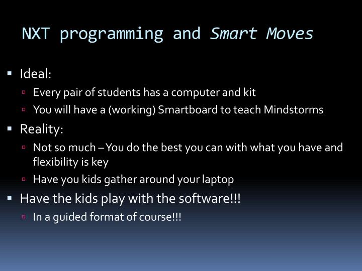 nxt programming and smart moves n.